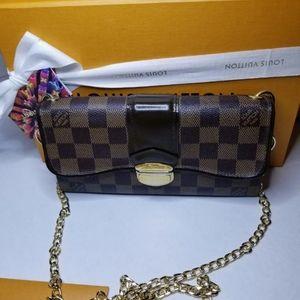 Authentic louis Vuitton Damier Ebine long wallet